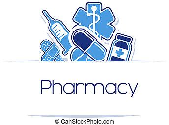 medicinas, diseño, farmacia