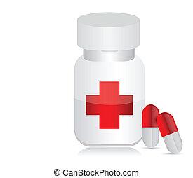 medicinas, tarro