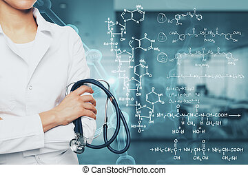Medicine and chemistry concept