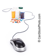 online pharmacy - Medicine and computer mouse, concept of ...