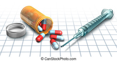 Medicine and drugs - Prescription drugs and medicine with a...