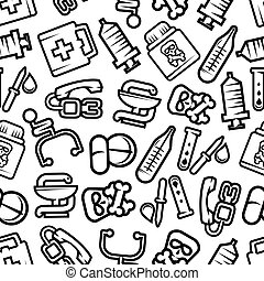 Medicine and healthcare seamless pattern