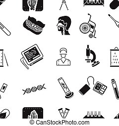 Medicine and hospital pattern icons in black style. Big collection of medicine and hospital vector symbol stock illustration