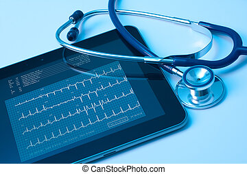 Medicine and new technology - Doctor workplace with digital...