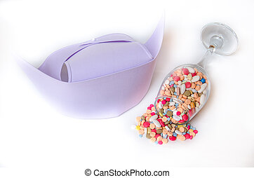 Medicine and nurse cap