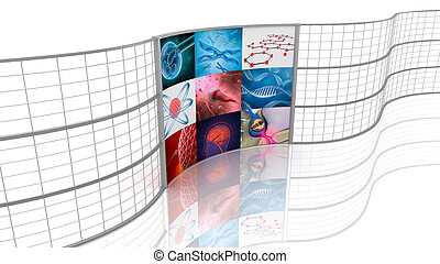 Medicine. Background displays.