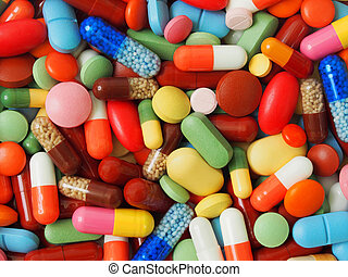 Medicine background - Macro of background made from pills...