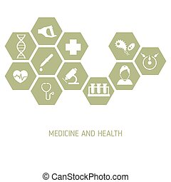 Medicine background with icons