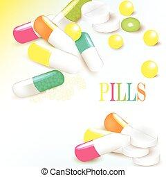Medicine background with multicolor - Vector medicine...