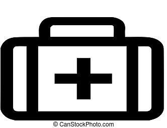 Medicine bag vector on white background