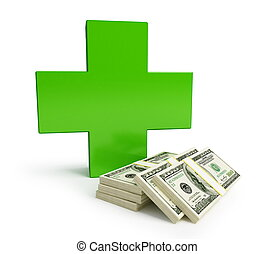 medicine becomes more expensive isolated on a white...