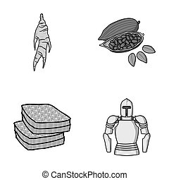 medicine, beekeeping and other monochrome icon in cartoon style.cooking, history icons in set collection.