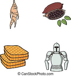 medicine, beekeeping and other web icon in cartoon style.cooking, history icons in set collection.