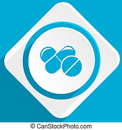 medicine blue flat design modern icon for web and mobile app