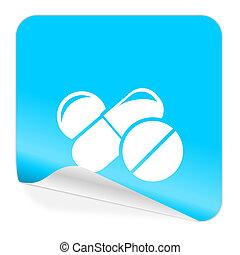 medicine blue sticker icon