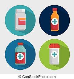 medicine bottle drug pills