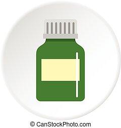 Medicine bottle icon circle
