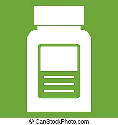 Medicine bottle icon green
