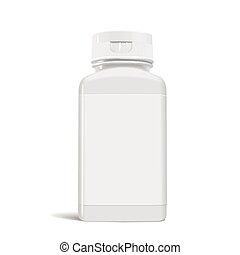 medicine bottle - blank medicine bottle with label isolated...