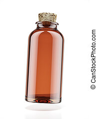 Medicine bottle of brown glass