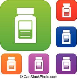 Medicine bottle set color collection