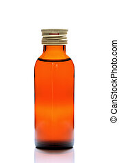 medicine bottle on white background