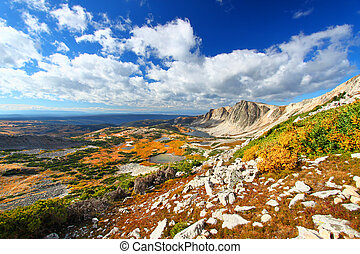 Medicine Bow National Forest Wyoming - Sunlight shines along...
