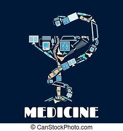 Medicine Bowl of Hygieia vector poster