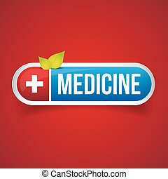 Medicine button vector