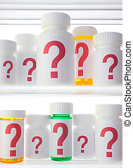 Medicine Cabinet of Worry - Close crop of medicine cabinet...