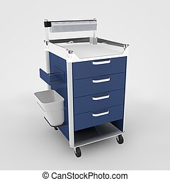 Medicine Cabinet - Computer rendered illustration one...