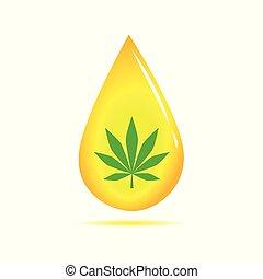 medicine cannabis oil yellow drop