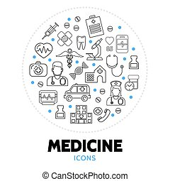 Medicine Care Round Concept