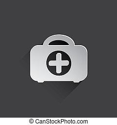 medicine case flat icon.
