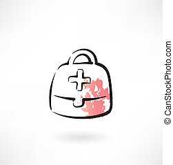 medicine chest grunge icon