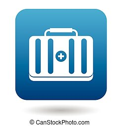 Medicine chest icon in simple style