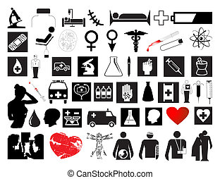 Collection on a medicine theme. A vector illustration