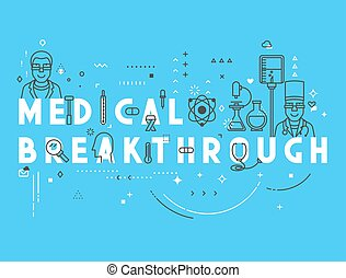 Medicine concept breakthrough. Creative design elements for...
