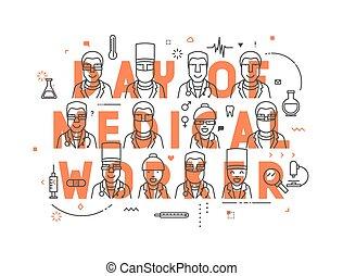 Medicine concept design day of medical worker.