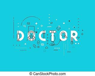 Medicine concept design doctor