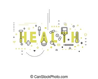 Medicine concept design Health