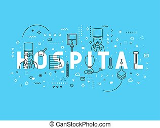 Medicine concept design hospital.