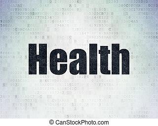 Medicine concept: Health on Digital Paper background