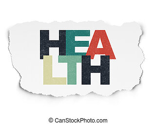 Medicine concept: Health on Torn Paper background