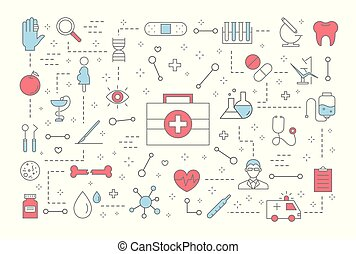 Medicine concept illustration - Medicine concept . Idea of...