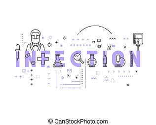Medicine concept infection. Creative design elements for ...