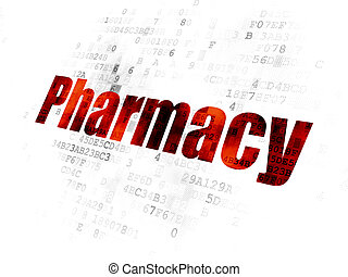 Medicine concept: Pharmacy on Digital background