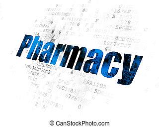 Medicine concept: Pharmacy on Digital background