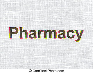 Medicine concept: Pharmacy on fabric texture background