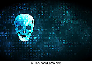 Medicine concept: Scull on digital background - Medicine...